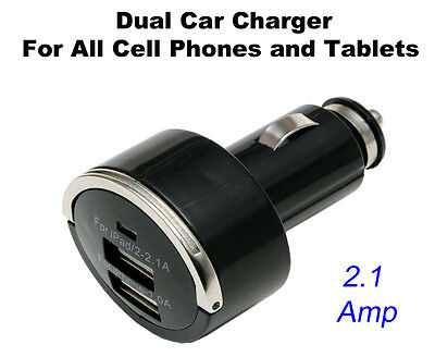 USB Dual Car Charger for Apple iPad Mini Air iPhone 5 6 6+ Plus Note Black New