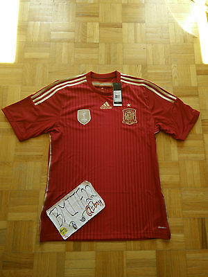 NWT Spain 2010 FIFA World Cup Champions Home Adidas Football Soccer Jersey Men L