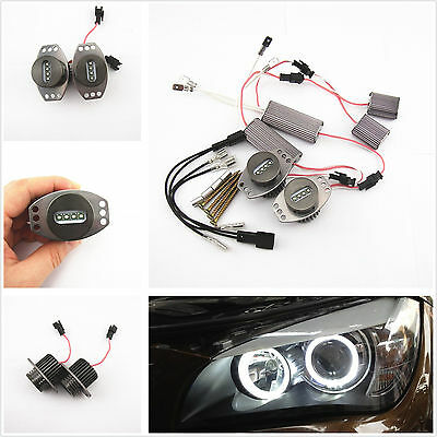 2 x White Cree LED 20W Angel Eyes Halo Ring Light Bulbs For BMW 3 Series E90 E91