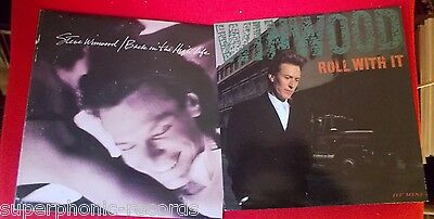 "STEVE WINWOOD 2 lp lot ROLL WITH IT (UK) 12"" BACK IN THE HIGH LIFE STERLING"