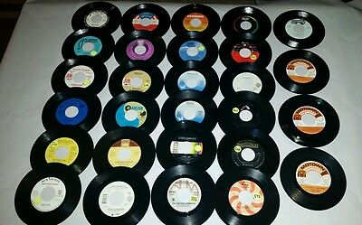 """*MIXED LOT OF (28) 45 RPM 7"""" JUKEBOX RECORDS*VARIOUS GENRE'S*INCLUDES 6 PROMO*"""