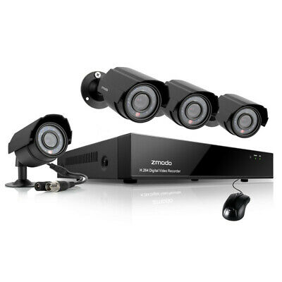 Funlux 4CH 1080p NVR IP Network PoE 4 720p Home Security Camera System No HDD