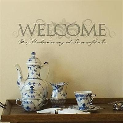 Wall Stickers Decals-WELCOME May All Who Enter as Guests leave as Friends