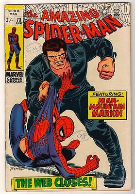 MARVEL Comics SPIDERMAN Amazing Silver age #73 1969 VGF 5.0 Spider-man