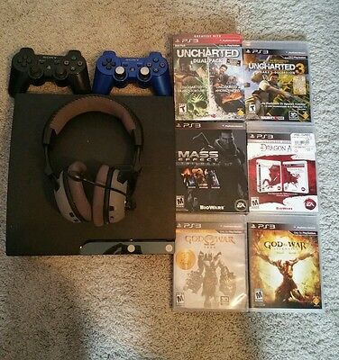 Slim 120 GB PS3 + 11 GREAT games + Turtle Beach Headset + 2 controllers