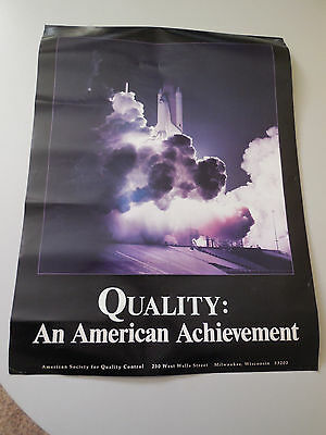 QUALITY an American Achievement Space Shuttle Challenger Poster; 1984