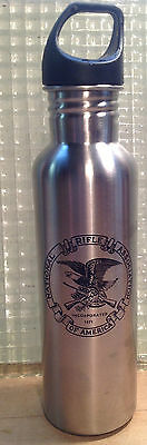 NRA Stainless Steel Water Bottle Liquid Logic NEW Logo & Eagle Seal Wide Mouth