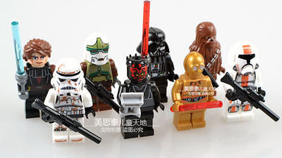 NEW Lot of 8sets Star Wars Series Minifigures clone troopers in plastice bags.