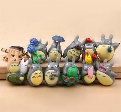 Tonari no Totoro figure 12pcs/Lot Lovely DIY moss Micro landscape toy Gift