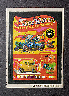 1974 Topps Wacky Packages SHOT WHEELS Vintage Sticker Packs, SHOTWHEELS