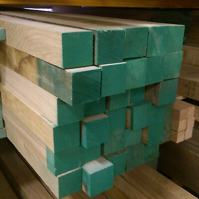 Sawn Kiln Dried Solid Oak Wood / Timber Squares 65mm x 65mm x Various Lengths