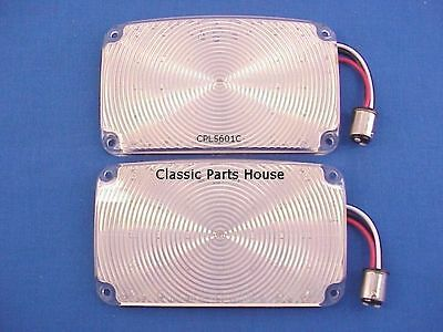 1956 Chevy Park Lights. Amber Led & Clear Lens (2) Brand New!