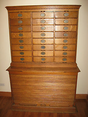 Amberg's Imperial Letter File - Oak Filing Cabinet - Roll Up Bottom - Circa 1903