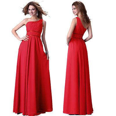 SALES Red Sexy Evening Party Ball Prom Gown Formal Bridesmaid Grad Dress PLUS 12