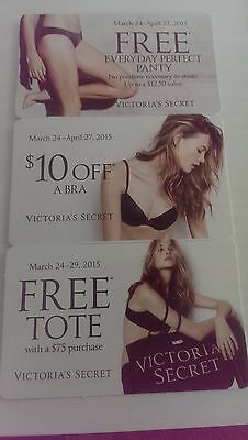 Victorias Secret April 2015 Coupons (Set of 2) US-Nationwide