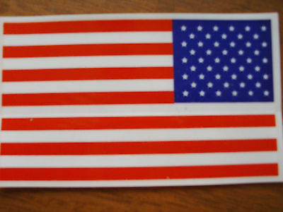 American Flag Decals , 3x 5  Lot of  12, Ships Free Same Day From the U.S.A..!