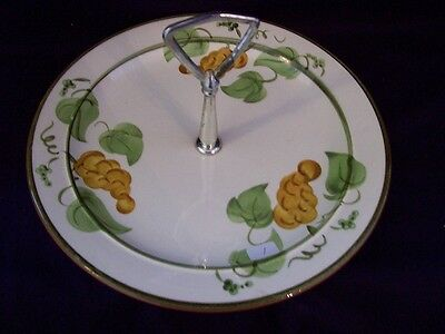 Stangl Hand Painted Serving Dish.  Golden Grape