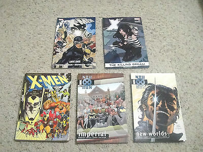 Lot of 5 X-Men TPBs - New X-Men,X 23 & Others - Good Condition