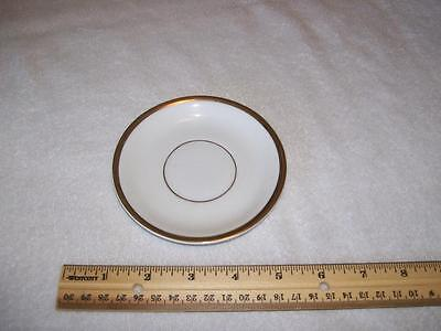 Vintage Original KPM Germany logo gold trimmed saucer