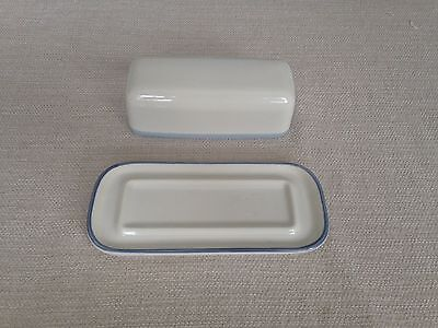 Vintage Pfaltzgraff Covered Butter Dish. Sky Pattern. 7 Inches.