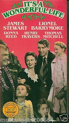 Used~VHS Video~It's A Wonderful Life~Original Uncut Classic~Black & White