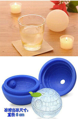New Cube Silicone Star Wars Death Star Round Ice Mold Tray Desert Sphere Moulds