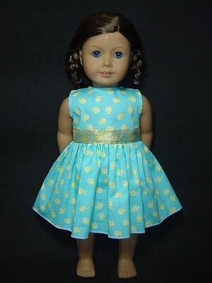 Clothes fits for 18'' American Girl Dolls Golden Fish Summer Dress AG400