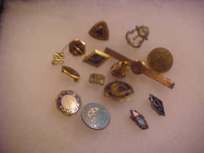 LOT OF 14 VINTAGE PINS SCHOOL / EDUCATION RELATED MOSTLY