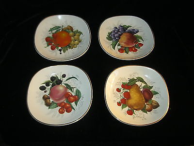 Vintage WEATHERBY HANLEY ENGLAND ROYAL  FALCON WARE SET OF 4 DISHES