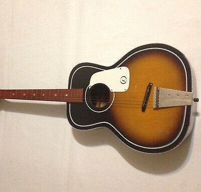Vintage 60's Kay Flattop Acoustic Guitar Sunburst Right Hand Instrument 6 string