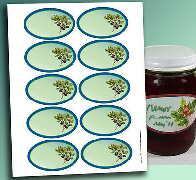 "10 OVAL Jelly Jam LABELS 3.25 x 2"" Blank or Custom Canning Personalized stickers"