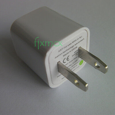 A1265 Power Safe USB Wall Charger Adapter For iPhone 4s 5s US AC Plug 5V 1A a50m