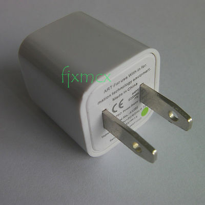 A1265 Power Safe USB Wall Charger Adapter For iPhone 4s 5s US Plug AC 5V 1A a712