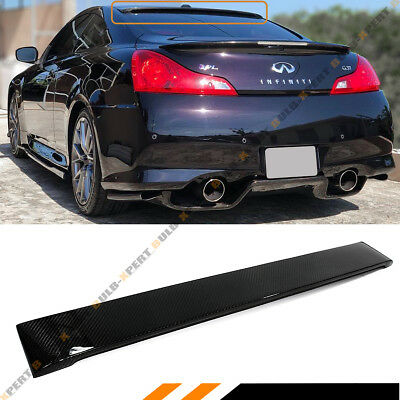 Fits For Infiniti G37 2 Dr Coupe Real Carbon Fiber Rear Roof Spoiler Visor Wing