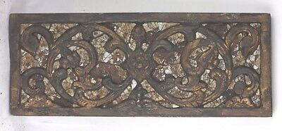 Gold Gilt wood carving old antique inlaid ornate vintage WALL PANEL gilding