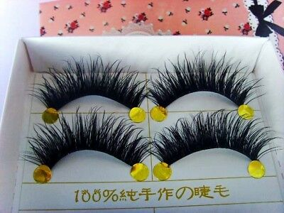 BEST! 5 Pairs Long Thick Handmade Makeup Fake False Eyelashes Eye Lashes#2