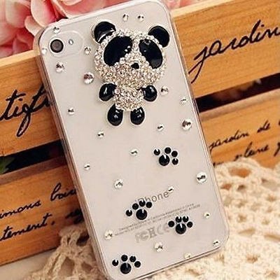 NEW 3D Bling handmade cute panada crystal hard Case cover for iPhone6 plus!