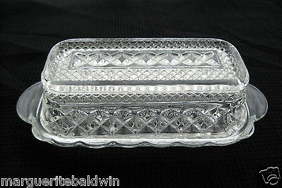 Anchor Hocking Glass Clear Wexford Butter Dish & Cover