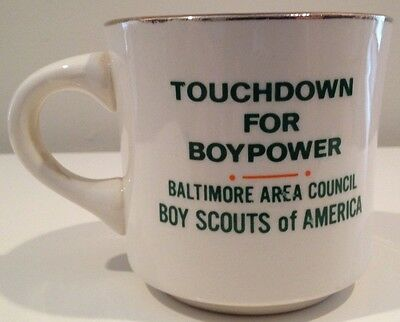 Touchdown for Boypower Baltimore Area Boy Scout Tiger Vintage Ceramic Mug