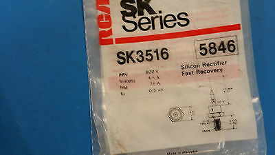 (1 PC) SK3516 RCA (NTE5846 EQUAL) SILICON RECTIFIER FAST RECOVERY 800V4.5A DO-4