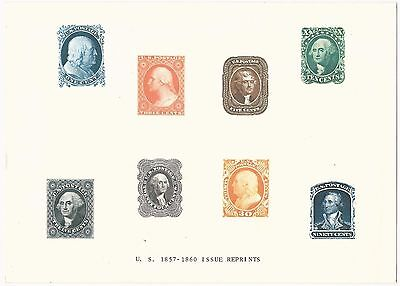 Scarce US 1857-1860 Issue Reprints Voncorp EDUCARD 1973 Issue