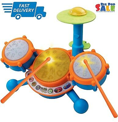 Vtech KidiBeats Drum Set For Kids Toys Toddlers Baby Gift Learn Music Sound Fun