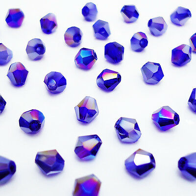 Free shipping jewelry 100pcs Swarovski  Crystal 4mm #5301 bicone beads  B:15