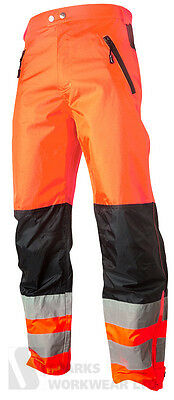Hi Vis Orange Shell Trousers Top Swede High Visibility Quality Clothing