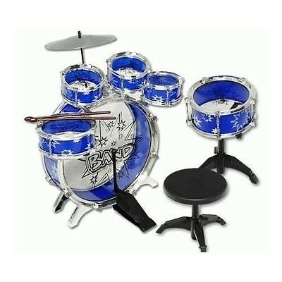 11pc Kids Drum Set Boy Girl Toy Playset BLUE Musical Instrument NEW