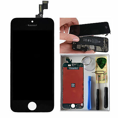 LCD Display Touch Screen Digitizer Replacement For iPhone 5C Black + Tools