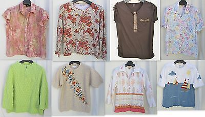 Lot of 8 Ana/Coldwater Creek/Alfred Dunner/C&B Beige/Brn/Green/Pnk WOMENS Tops L
