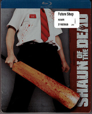 Blu-ray STEELBOOK Simon Pegg SHAUN OF THE DEAD Edgar Wright OOP All Region NEW