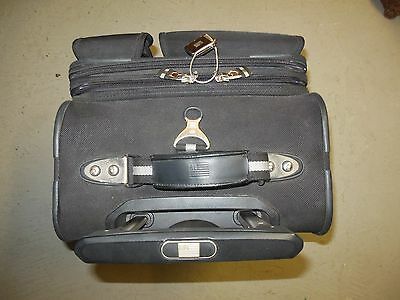 "Ralph Lauren Polo Sport Black 22"" Upright Wheeled Rolling Expandable Suitcase"