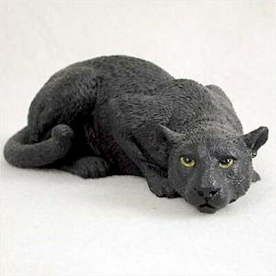 Realistic Hand Painted Cold Cast Stone Resin Black Panther Display Figurine